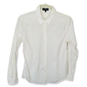Theory White Button-Up Shirt, S